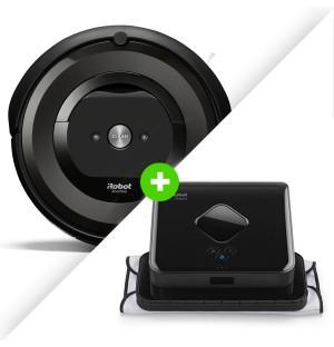 Combo Aspiradora iRobot Roomba e5 + Trapeadora iRobot Braava 380t