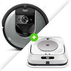 Combo Aspiradora iRobot Roomba i7 Plus + Trapeadora iRobot Braava Jet m6