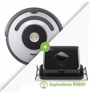 Combo iRobot Roomba 622 + Trapeadora iRobot Braava 380t